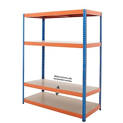 Stabiles Werkstattregal - Tragkraft bis zu 300 Kg pro Fachboden
