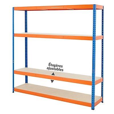 Mega Deal | 3x rayonnages pour charges lourdes - profondeur 45 cm | 300 kg par étagère