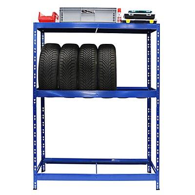 Reifenregal | HxBxT 180 x 130 x 50 cm | Für bis zu 12 Reifen | Mit Fachboden