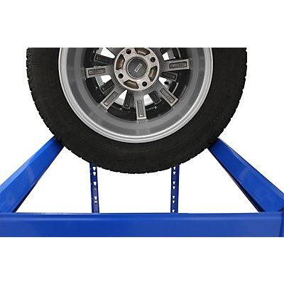Reifenregal | HxBxT 180 x 130 x 50 cm | Für 12 Reifen | Mit Fachboden