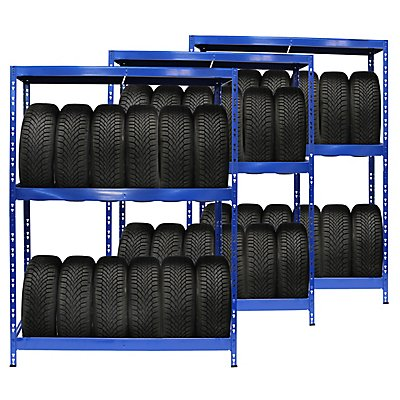 Mega Deal | 3x rayonnages pour pneus | 6 pneus par niveau | Charge max. 200 kg
