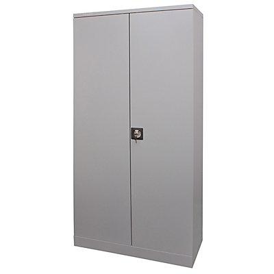 Newpo Armoire métallique | 5 niveaux | 4 étagères | HxLxP 195 x 92 x 42 cm | Gris