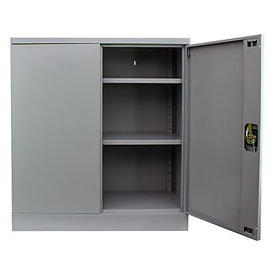 Newpo Armoire métallique | 2,5 niveaux | 2 étagères | HxLxP 100 x 92 x 42 cm