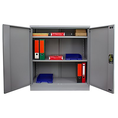 Armoire métallique | 2,5 niveaux | 2 étagères | HxLxP 100 x 92 x 42 cm | newpo