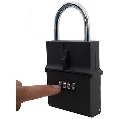Schlüsseltresor mit Bügel | Zahlenschloss | HxBxT 150 x 80 x 30 mm |newpo