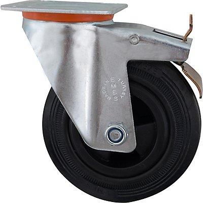 Rolle mit Bremse für Werkstattwagen | newpo