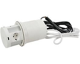 Mehrfachsteckdose | 4x Steckdosen | 3x USB-Anschlüsse | Kabelloses QI Ladegerät | CAT 6- Anschluss | newpo