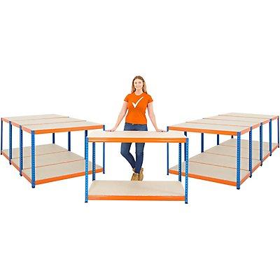 Mega Deal | 4x Schwerlastregal - Tiefe 60 cm - 300 kg pro Fachboden