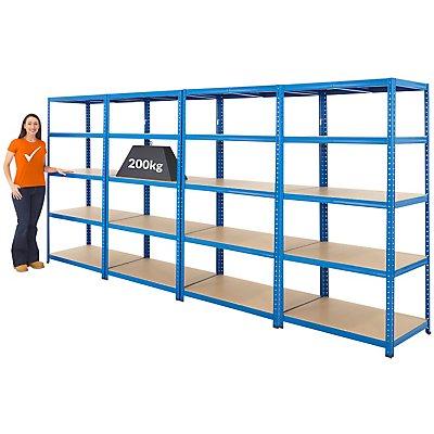 Mega Deal | 4x Schwerlastregal - Tiefe 60 cm - 200 kg pro Fachboden