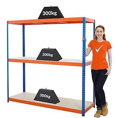 Mega Deal | 5x Schwerlastregal - Tiefe 60 cm - 300 kg pro Fachboden