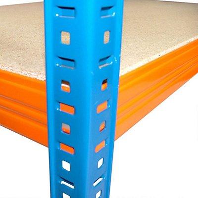 Mega Deal | 5x Schwerlastregal - Tiefe 45 cm - 300 kg pro Fachboden