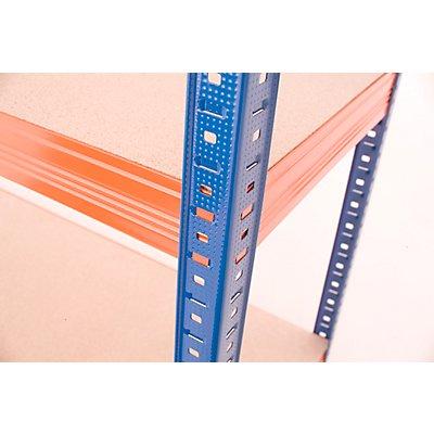 Mega Deal | 4x Schwerlastregal - Tiefe 40 cm und 1x Werkbank