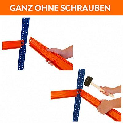 Mega Deal | 4x Schwerlastregal - Tiefe 60 cm und 1x Werkbank