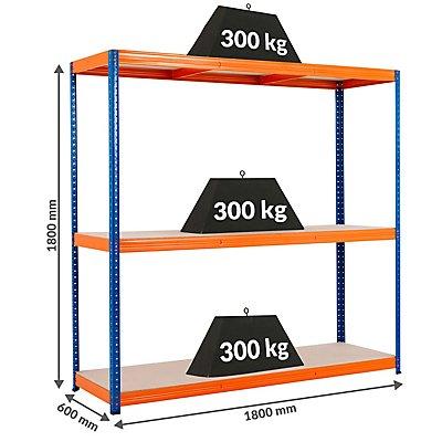 Mega Deal | 5x Schwerlastregal - Tiefe 60 cm und 1x Werkbank