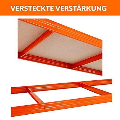 Mega Deal   5x Schwerlastregal - Tiefe 45 cm und 1x Werkbank
