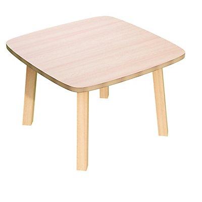 Beistelltisch mit Massivholz-Tischbeinen | HxBxT 400 x 600 x 600 mm