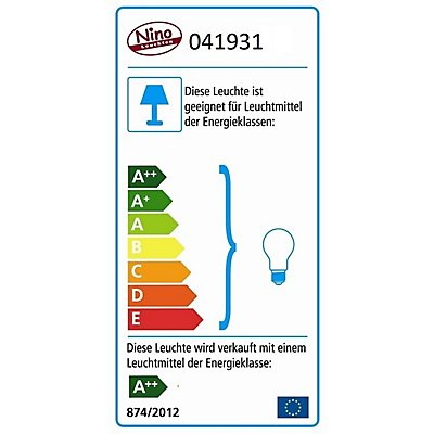 Nino LED Deckenleuchte ANICA 3-flammig - 3 Glasschirme à 4 Watt