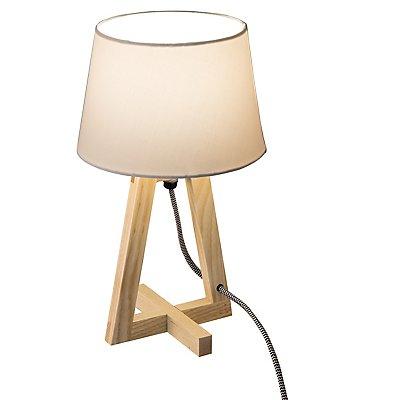 Nino Tischleuchte BRAY - mit Holz-Gestell, Höhe  300 mm