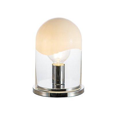 Nino Tischleuchte CATANIA - aus Glas weiß / klar, Höhe 200 mm