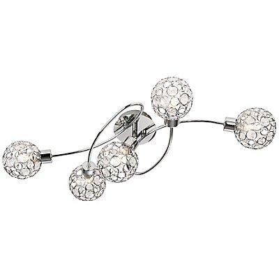 Nino LED Deckenleuchte LARGO mit 5 Spots - Länge: 600 mm