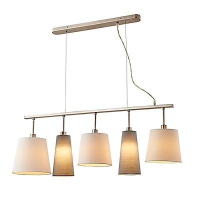 Nino Pendelleuchte LIMA - mit 5 Lampenschirmen