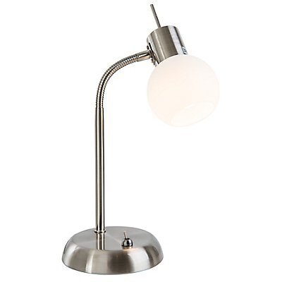 Nino LED Tischleuchte LOXY - Opalglas, Flexarm
