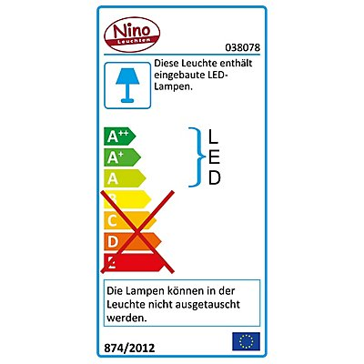 Nino LED Deckenleuchte MARLA - 2 LED-Flügel, 12 Watt