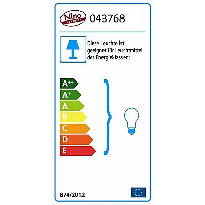 Nino LED Stehleuchte SYDNEY - Höhe: 1500 mm
