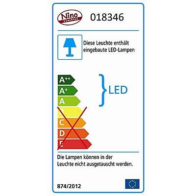 Nino LED Aufbauleuchte - Nickel matt