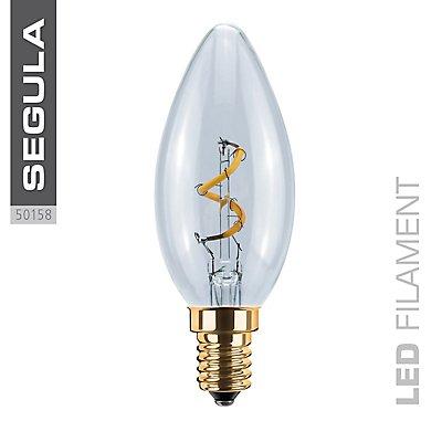 LED Kerzenlampe Curved klar - 70 Lumen
