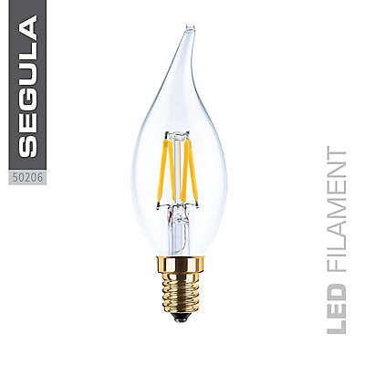 LED Kerzenlampe Windstoß klar - 3,5 Watt, 200 Lumen