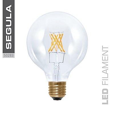 LED Glühlampe Globe 95 klar - 6 Watt, Twisted