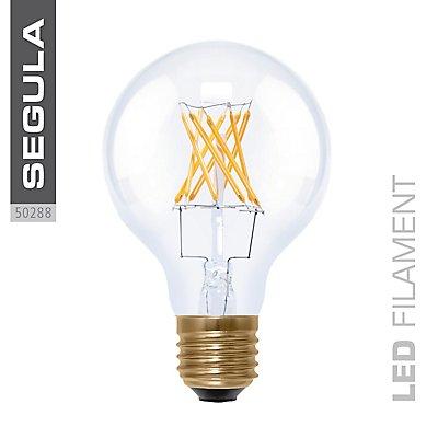 LED Glühlampe Globe 80 klar - 6 Watt, Twisted