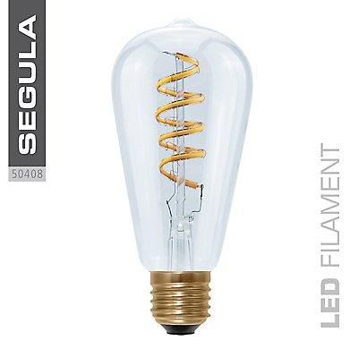 LED Glühlampe RUSTIKA Curved Spirale - klar