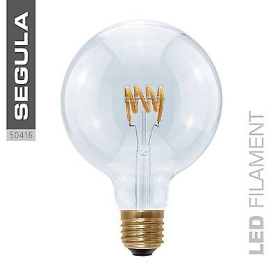 LED Glühlampe Globe Curved Spirale klar - Durchmesser: 125 mm