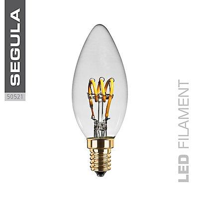 LED Kerzenlampe Curved klar - 90 Lumen