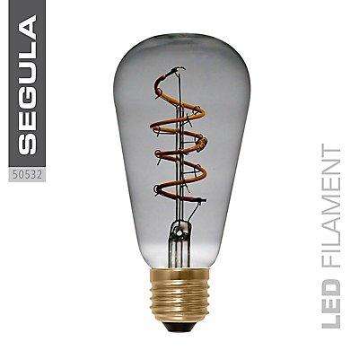 LED Glühlampe RUSTIKA curved Spirale grau