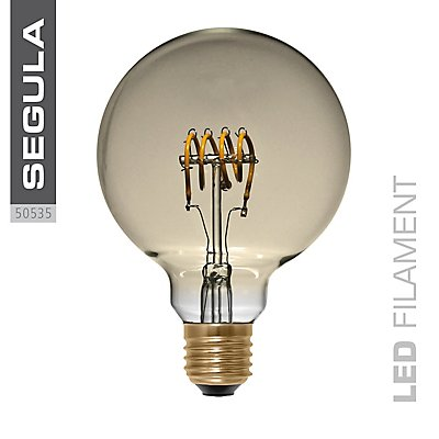 LED Glühlampe Globe Curved Gold - Durchmesser: 95 mm