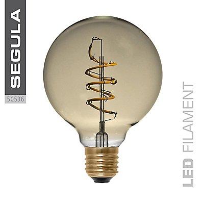 LED Glühlampe Globe Curved Spirale Gold - Durchmesser: 95 mm