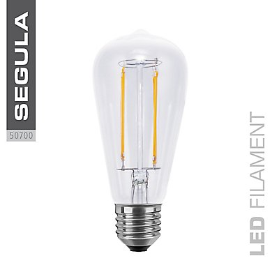 LED Glühlampe RUSTIKA long style - klar, Retro-Design