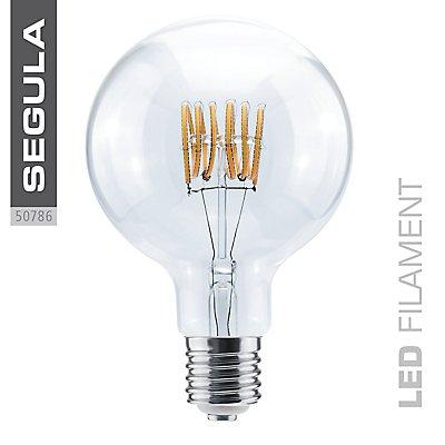LED Glühlampe Grand Globe Curved Spirale klar