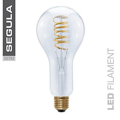 LED Glühlampe Bulb Curved Spirale klar
