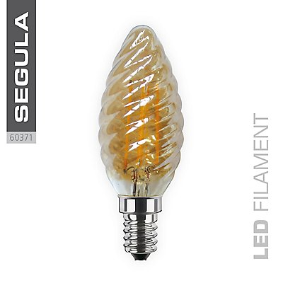LED Kerzenlampe Twister Gold