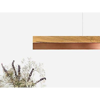 GANTlights Pendelleuchte aus Eichenholz und Kupferblech, dimmbar