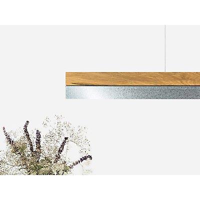 GANTlights Pendelleuchte aus Eichenholz und Zinkblech