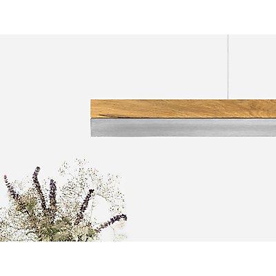 GANTlights Pendelleuchte aus Eichenholz und Edelstahl, dimmbar
