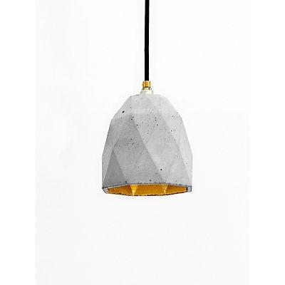 GANTlights Hängelampe aus Beton mit Innenbeschichtung, 15 cm