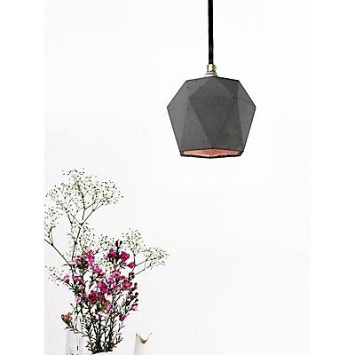 GANTlights Hängelampe aus Beton mit Innenbeschichtung, 12 cm