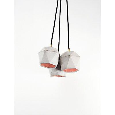 GANTlights Lampenbündel (3er-Set) aus Beton mit Innenbeschichtung