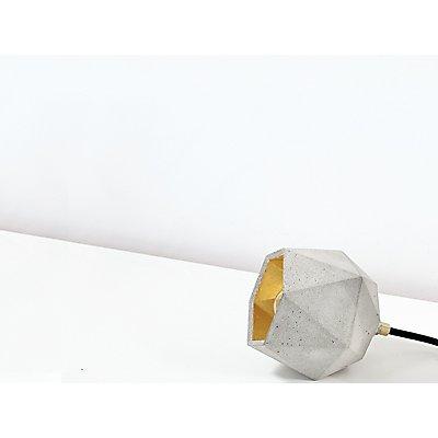 GANTlights Bodenlampe aus Beton mit Innenbeschichtung